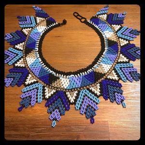 Colombian Embera Chami necklace, handmade amazon.